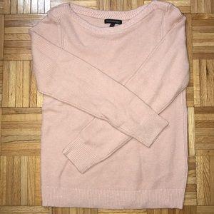 Banana Republic light pink sparkle sweater